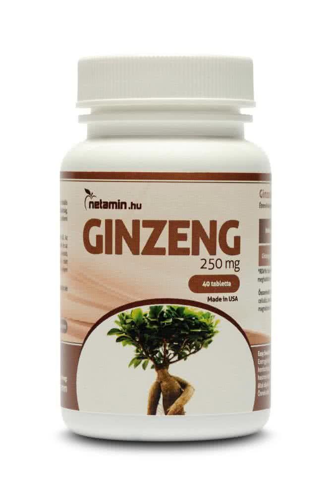 Netamin Ginseng 250 mg 40 tab.