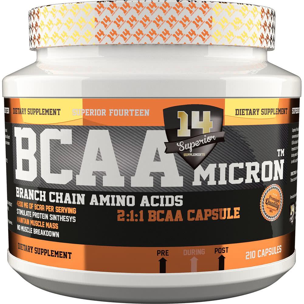 Superior 14 BCAA Micron 210 caps.