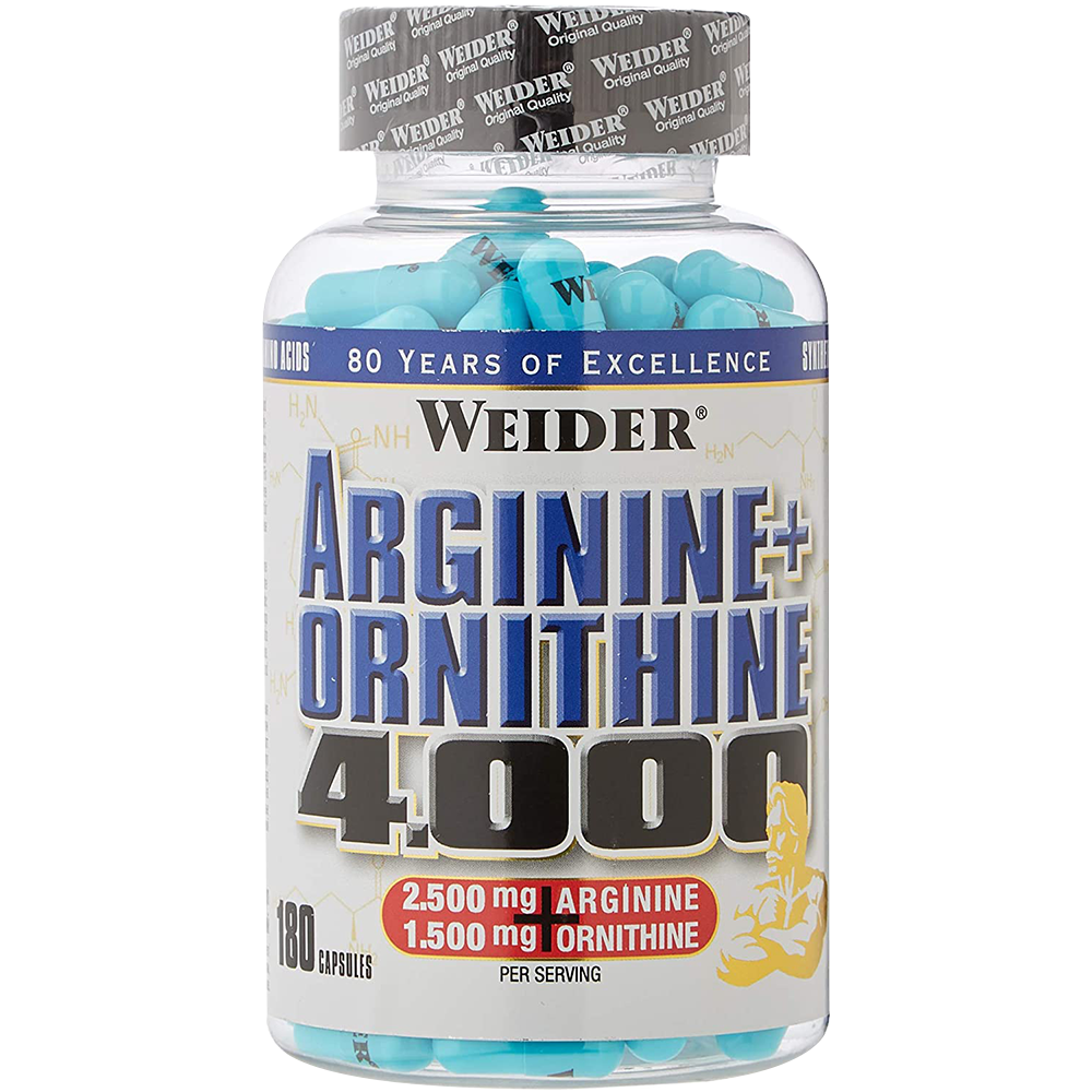 Weider Nutrition Arginine + Ortnithine 4.000 180 caps.