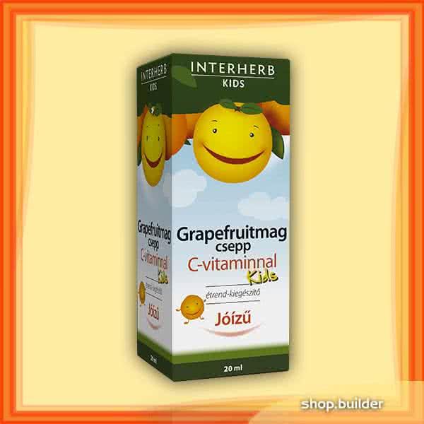 Interherb Grapefruit Kids + C-vitamin 20 ml.