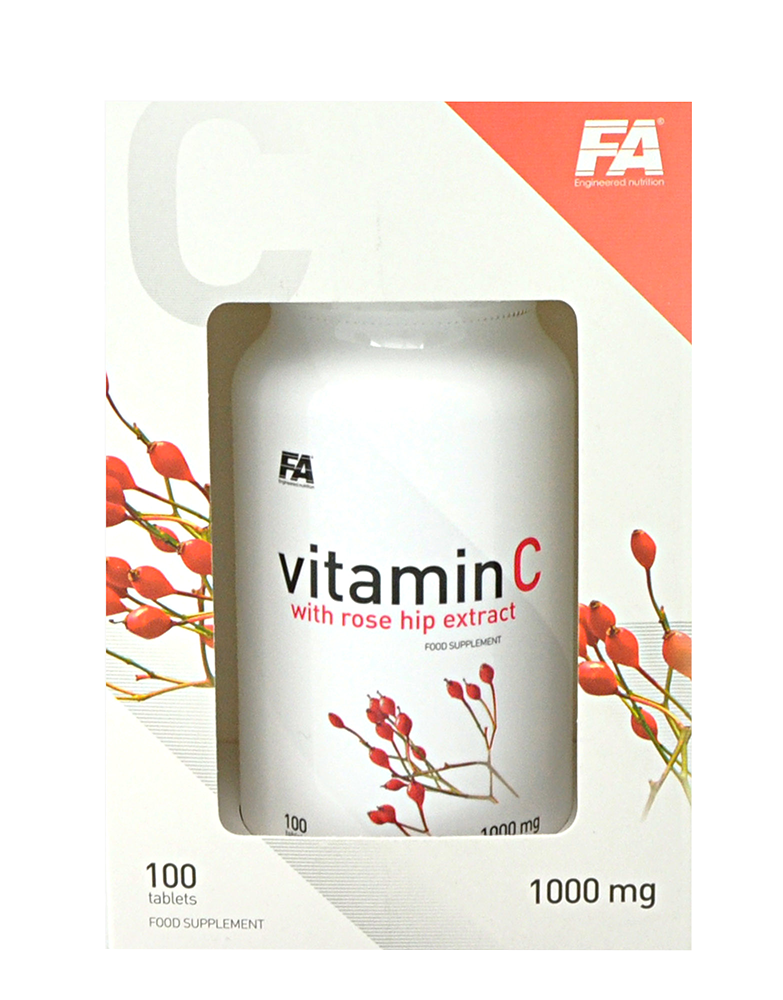 Fitness Authority Vitamin C with Rose Hips 100 caps.