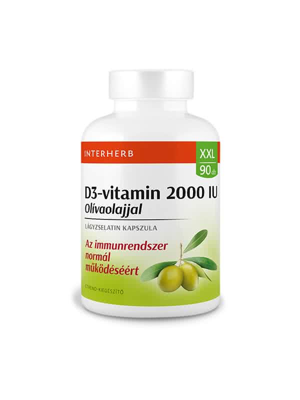 Interherb XXL Vitamin D3 2000 IU 90 g.k.