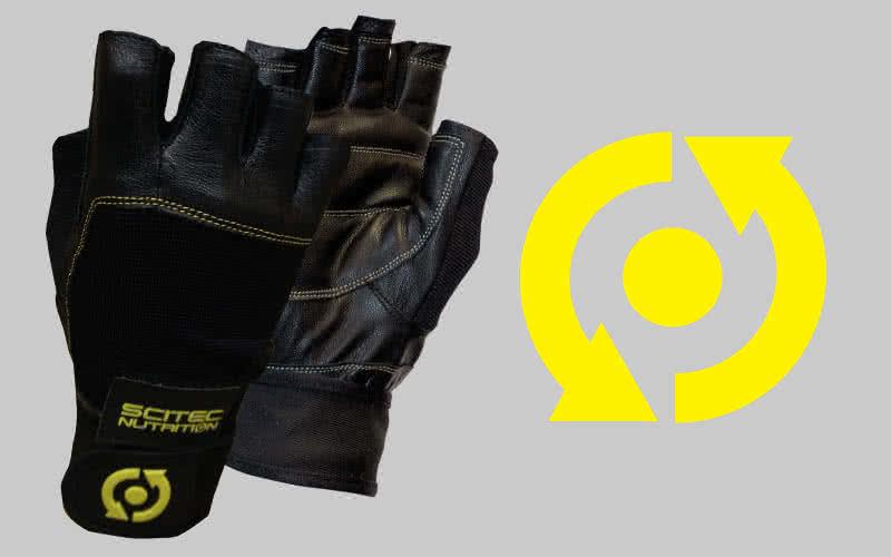 Scitec Nutrition Mănuși antrenament stil piele galben  pereche