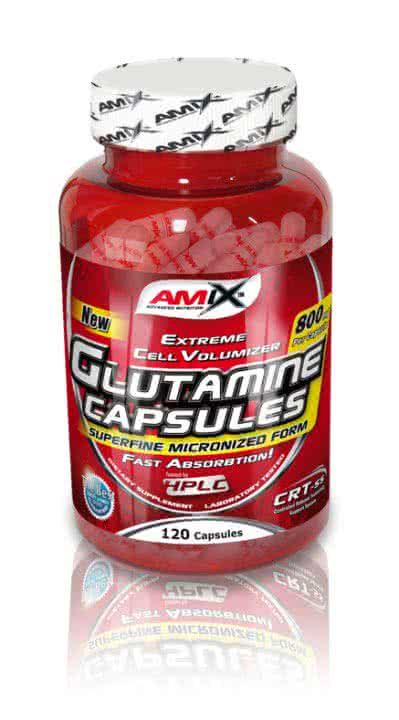 Amix L-Glutamine Caps 120 caps.
