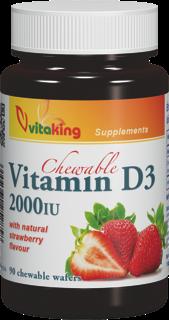 VitaKing D3 Vitamin 2000 90 tabl. de mest.