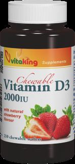 VitaKing D3 Vitamin 2000 210 tabl. de mest.