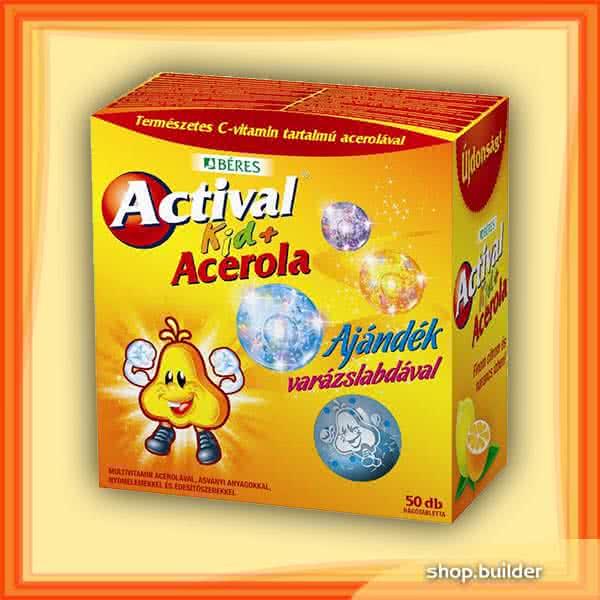 Beres Actival Kid + Acerola 50 tab.