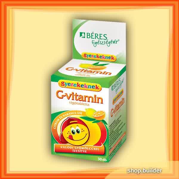 Beres Vitamin-C for kids 30 tabl. de mest.