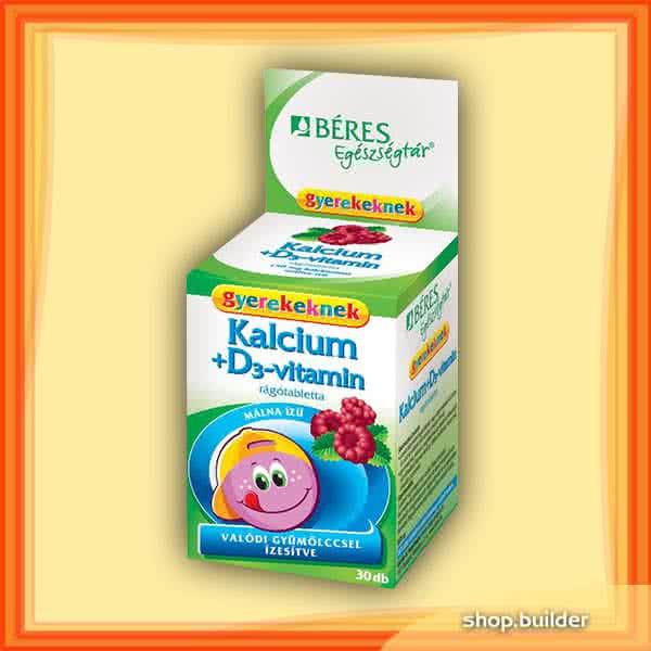 Beres Calcium + D3 for Kids 30 tabl. de mest.