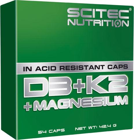 Scitec Nutrition D3 + K2 + Magnesium 54 caps.