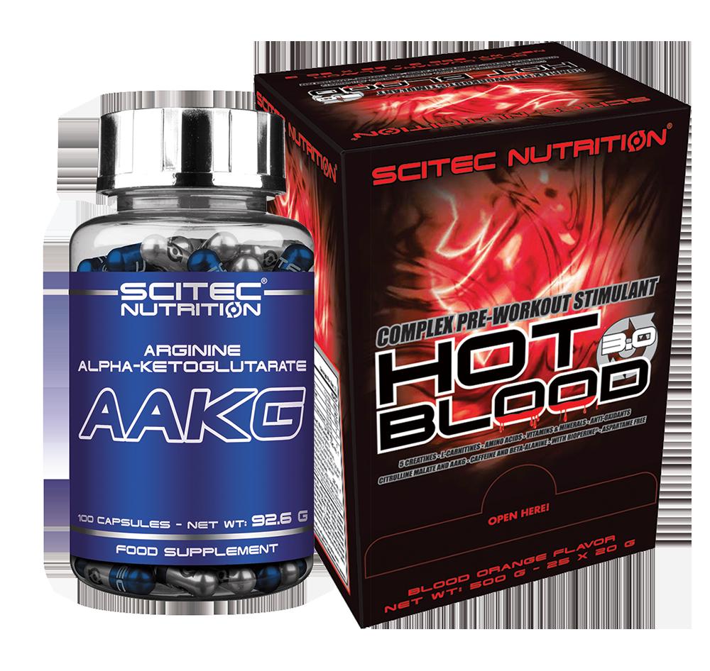 Scitec Nutrition Hot Blood 3.0 + AAKG set