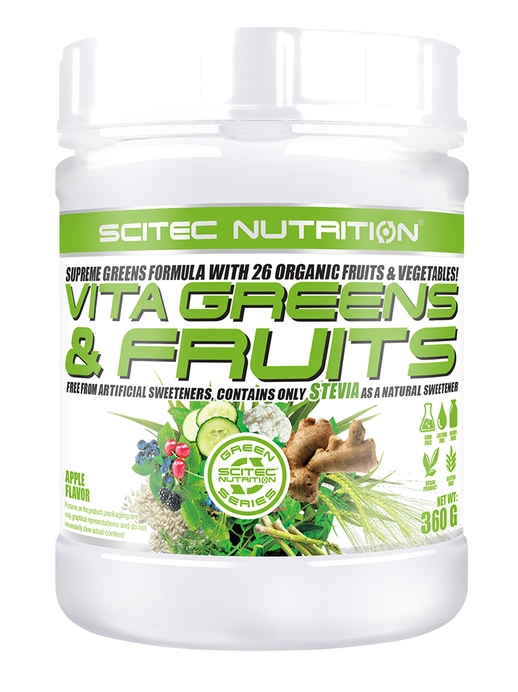 Scitec Nutrition Vita Greens & Fruits with Stevia 360 gr.