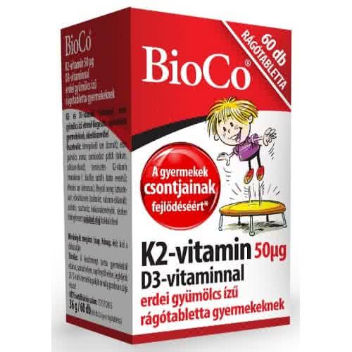 BioCo Vitamin K2 with Vitamin D3 60 tabl. de mest.