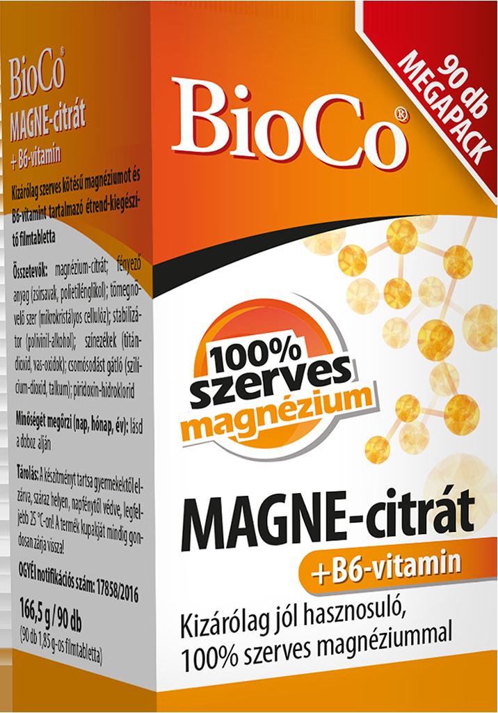 BioCo MAGNE-citrate+ Vitamin B6 90 tab.