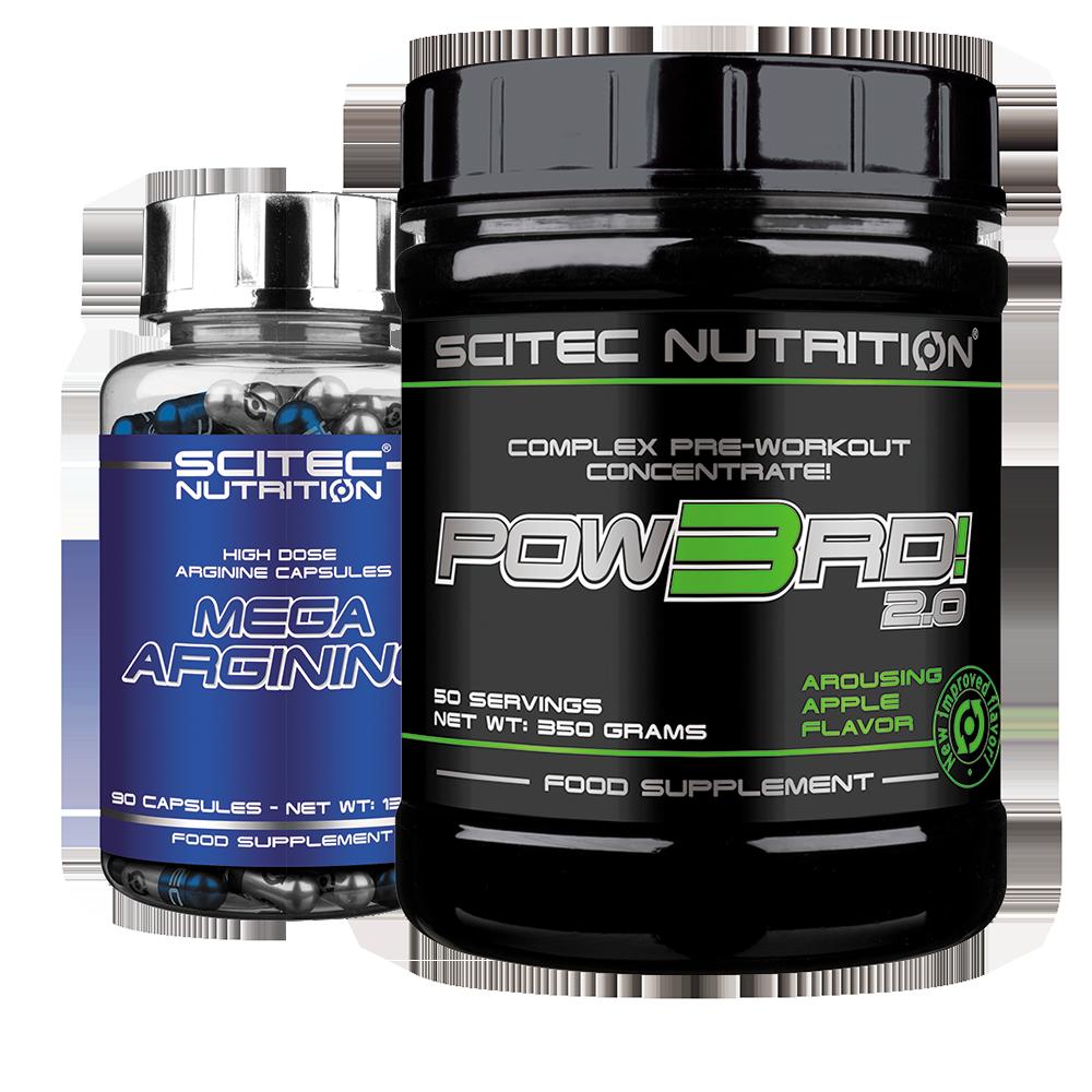Scitec Nutrition Pow3rd! + Mega Arginine set