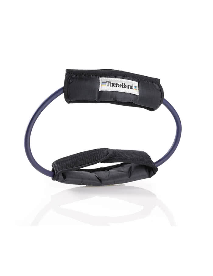 Thera Band Resistance Tubing, 12 Inch Loop With Padded Cuffs, extra strong
