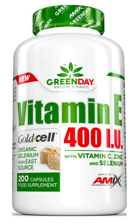 Amix GreenDay Vitamin E 400 I.U. LIFE+ 200 caps.
