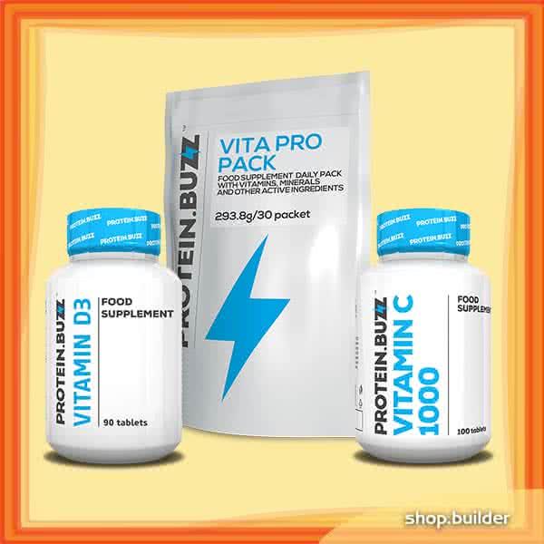 Protein Buzz Pachet de vitamine de iarnă Protein Buzz set