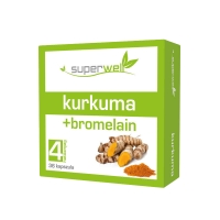 Superwell Kurkuma + Bromelain (36 caps.)