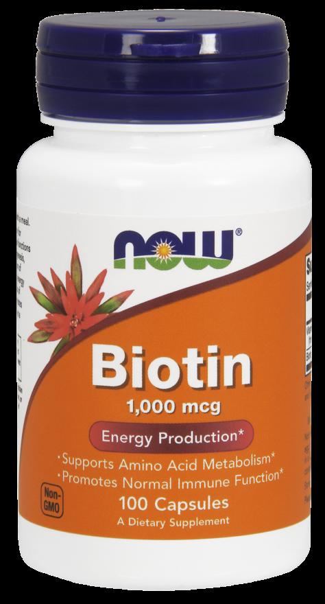 Now Foods Biotin 100 caps.
