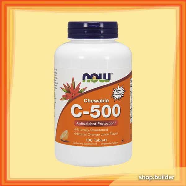 Now Foods C-500 Chewable Tablets 100 tabl. de mest.