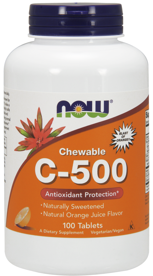 Now Foods C-500 Chewable Tablets 100 tabl. de mest.