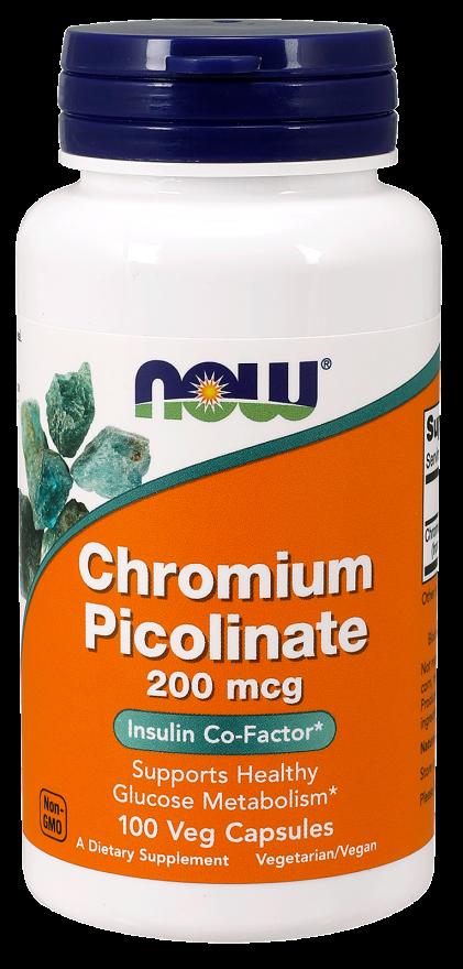 Now Foods Chromium Picolinate 100 caps.