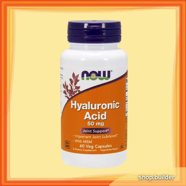 Now Foods Hyaluronic Acid with MSM 60 caps.