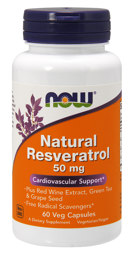 Now Foods Natural Resveratrol 50mg 60 caps.