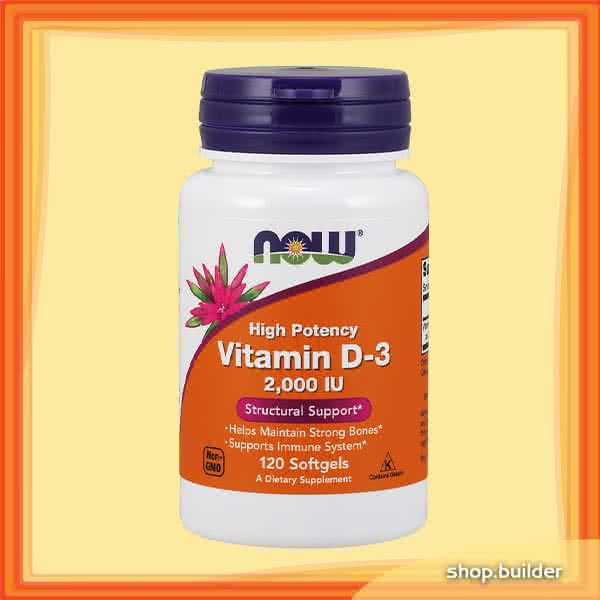 Now Foods Vitamin D3 2000IU 120 caps.