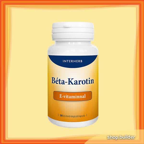 Interherb Beta-Carotene + Vitamin E 30 caps.