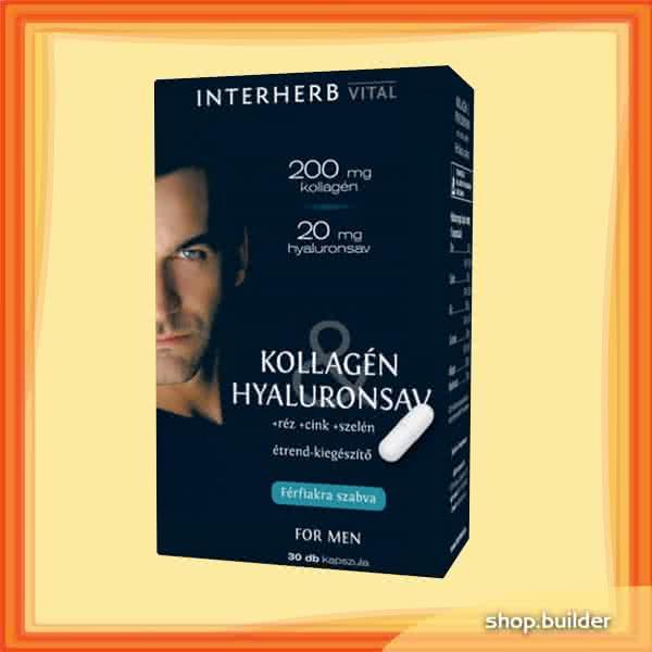 Interherb Kollagén & Hyaluronsav for Men 30 caps.