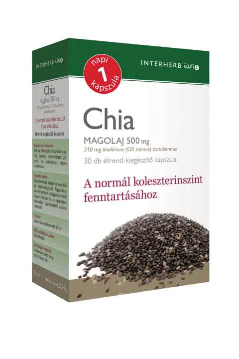 Interherb Chia seed oil 30 caps.