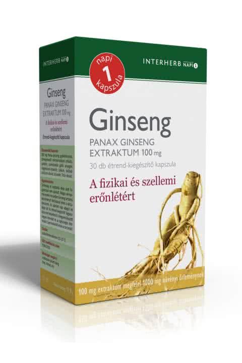 Interherb Panax Ginseng extract 30 caps.