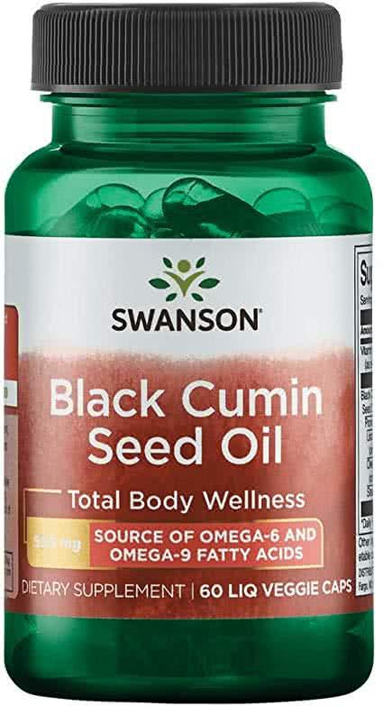 Swanson Black Cumin Seed Oil 60 caps.