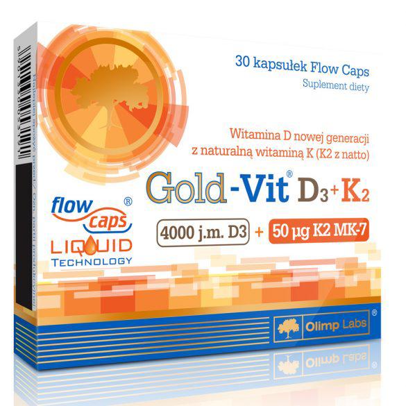 Olimp Sport Nutrition Gold-Vit D3+K2 30 caps.