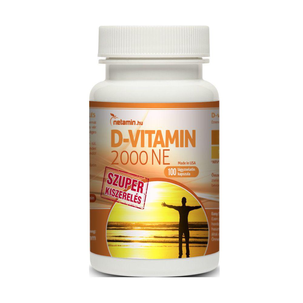 Netamin D-vitamin 2000 IU 100 caps.