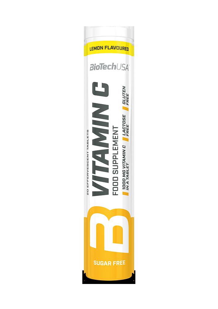 BioTech USA Vitamina C tablete efervescente 20 tab.