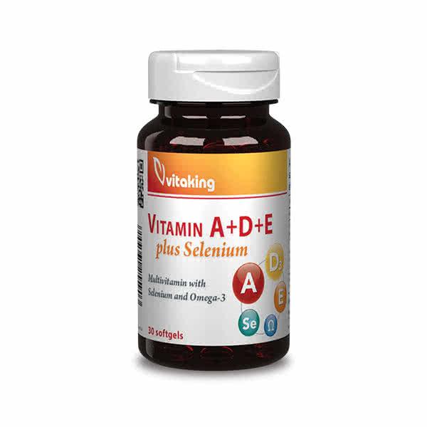 VitaKing Vitamin A+D+E plus Selenium 30 caps.