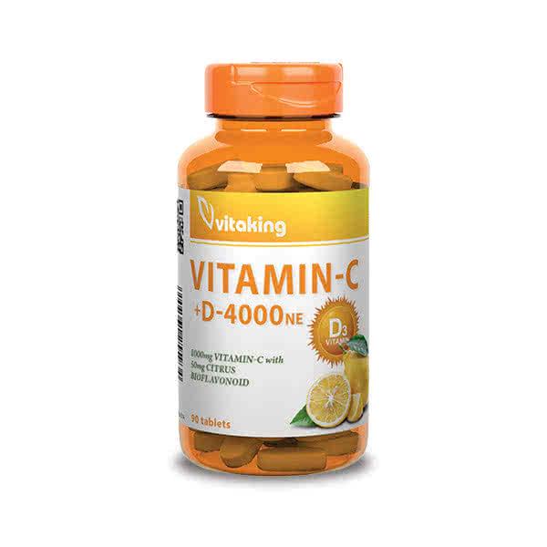 VitaKing Vitamin C-1000 + D-4000 90 tab.