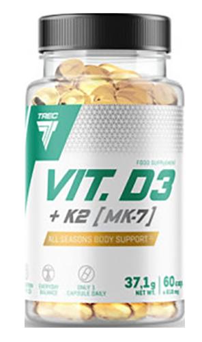 Trec Nutrition Vitamin D3+K2 60 caps.