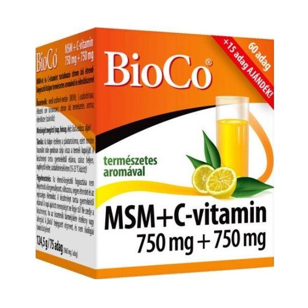 BioCo MSM + Vitamin C 75 buc