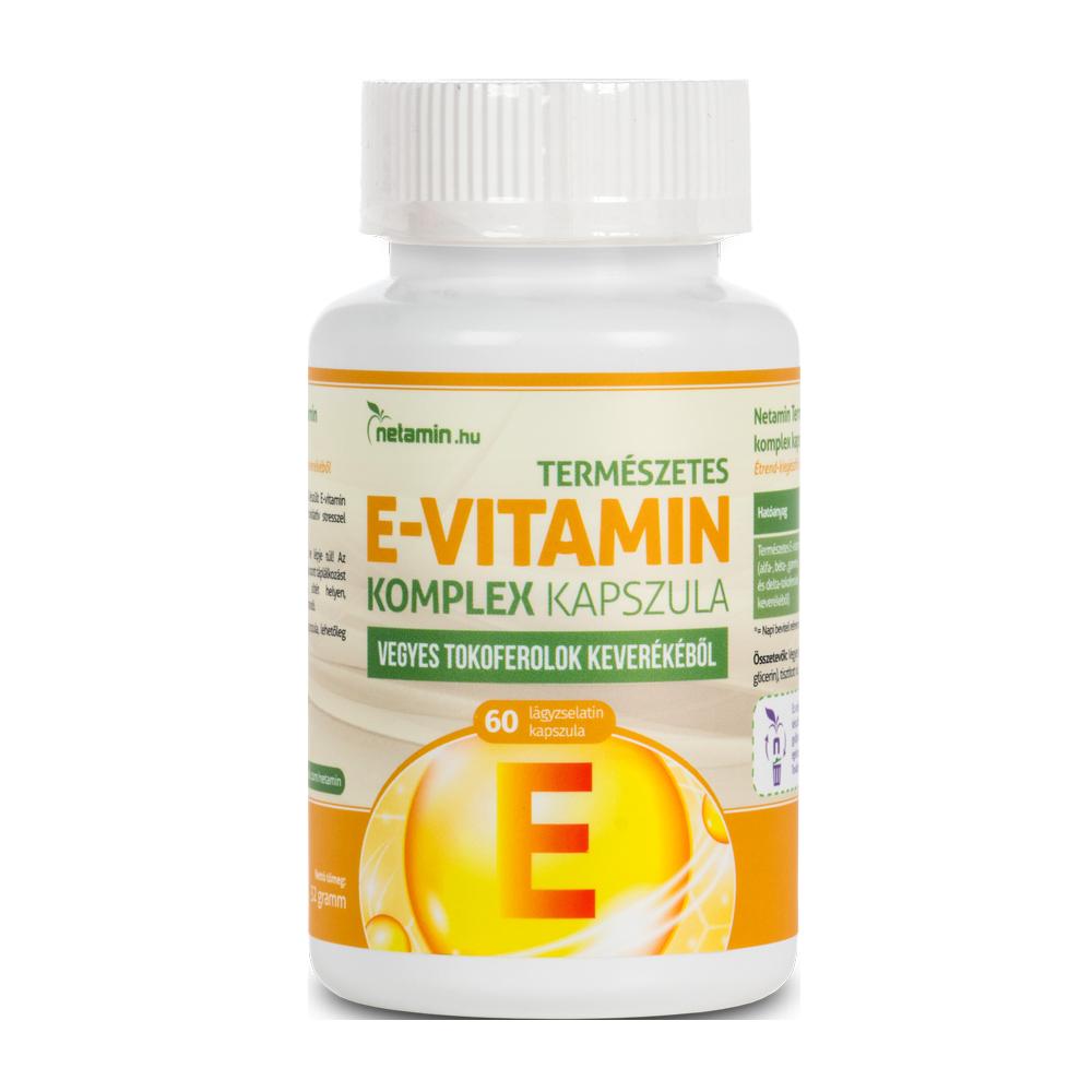 Netamin Natural Vitamin E complex 60 caps.