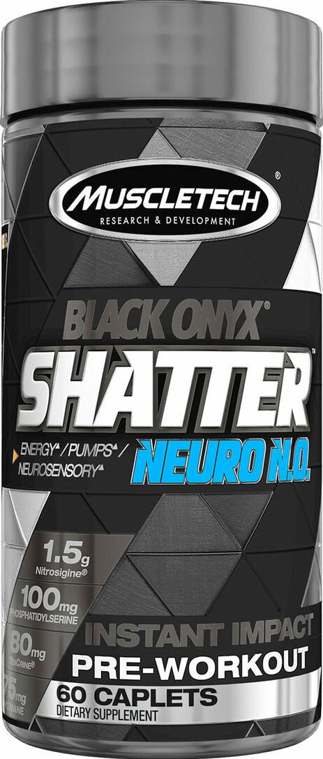 MuscleTech Shatter SX-7 Black Onyx Neuro N.O. 60 caps.