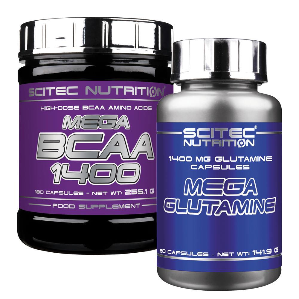 Scitec Nutrition Mega BCAA + Mega Glutamine set