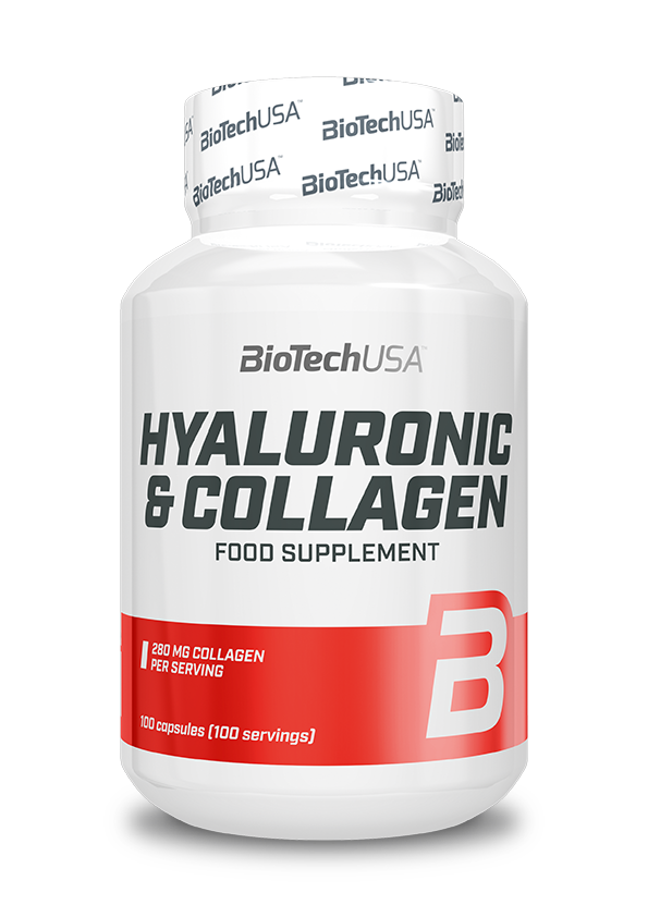 BioTech USA Hyaluronic & Collagen 100 caps.