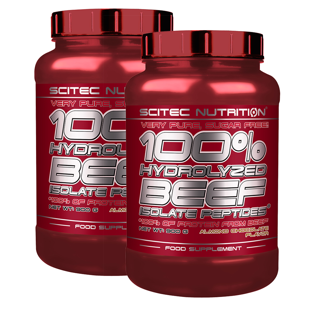 Scitec Nutrition 100% Hydrolyzed Beef Isolate Peptides (2x0,9 kg) set