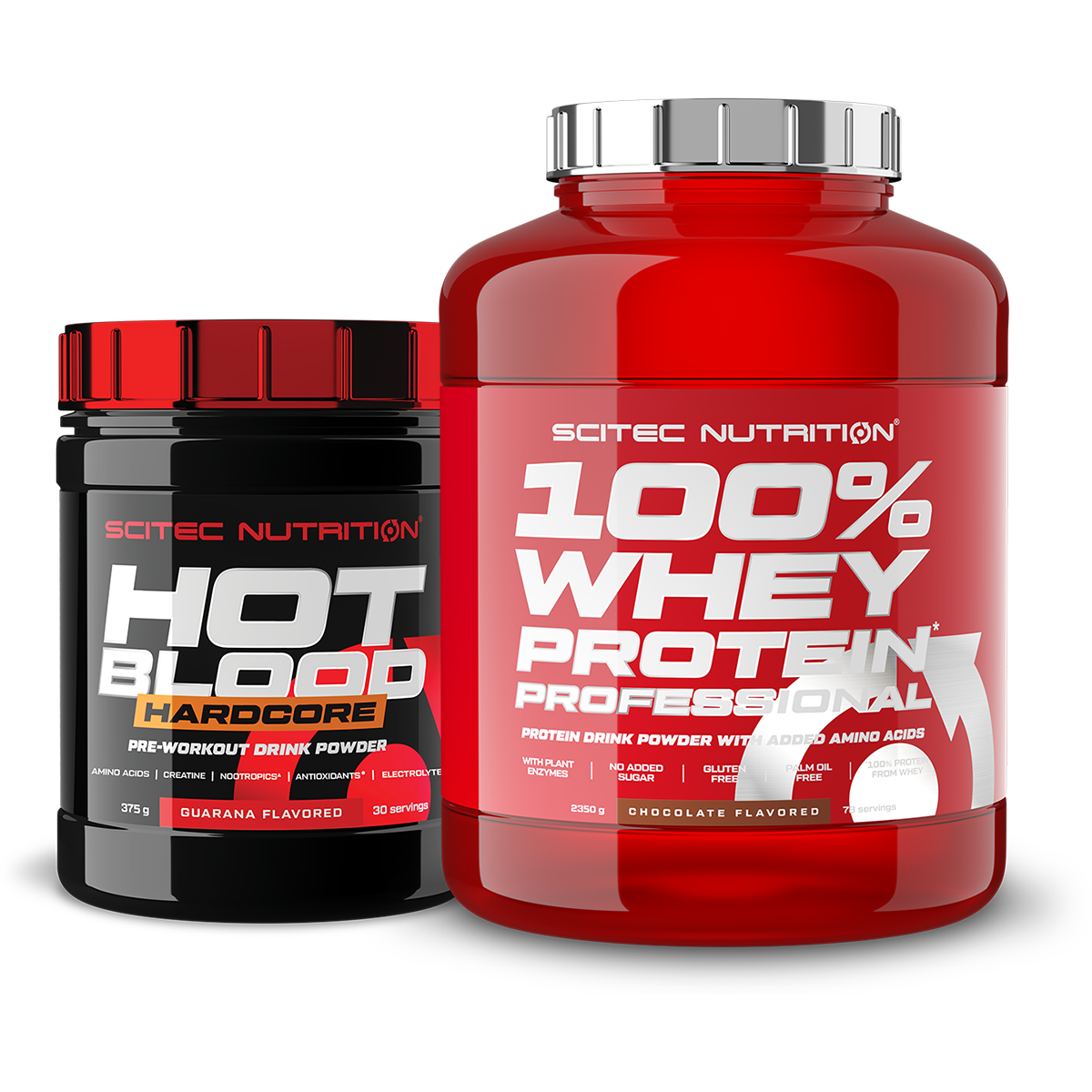 Scitec Nutrition 100% Whey Protein Professional + Hot Blood Hardcore set