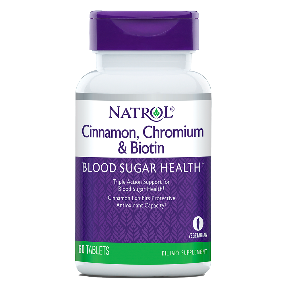 Natrol Cinnamon - Biotin - Chromium 60 tab.