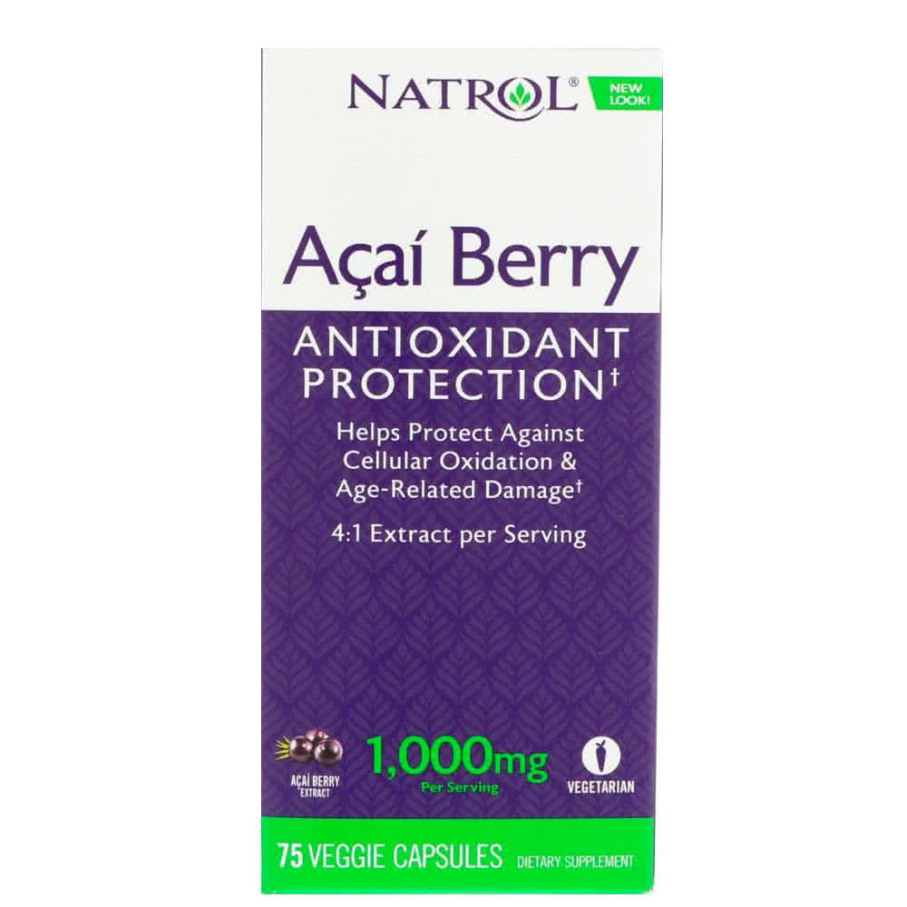 Natrol Acai Berry (1000 mg) 75 caps.